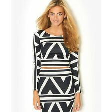 Ginger Fizz Aztec Print Co-Ord Skirt & top - sold separately - Blk/Wht GF31027