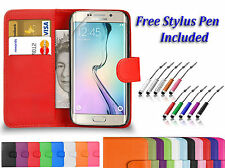 Magnetic PU Leather Book Flip Wallet Case Cover For Samsung Galaxy Phone Models