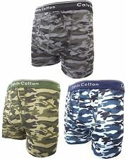 6 PAIR PACK MENS BOYS ARMY CAMOUFLAGE KEYHOLE UNDERWEAR BOXER SHORTS TRUNKS