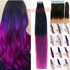 EXTENSION TAPE BANDE ADHESIVE CHEVEUX 100% NATURELS INDIAN REMY HAIR 40-60 CM