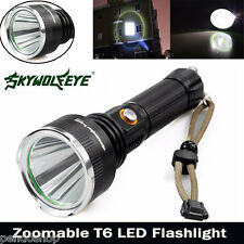 Sky Wolf 5000LM CREE XM-L T6 LED 5Modes Taschenlampe 18650 Zoombare Lampe