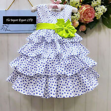 Vestito Bambina Abito Pois Principessa Dots Girl Summer Princess Dress DG0034