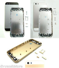 For iPhone 5S Housing Body Back Door Cover Frame Black White Silver Gold Golden