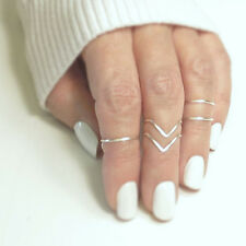 Set Fingerring Ring Fingerspitzenring Knuckle Nagelring Obergelenkring Mode