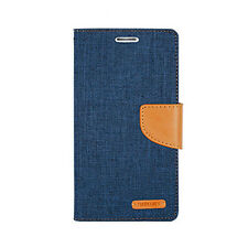 Wallet Card Case Canvas Flip Cell Phone Cover Stand for Samsung Galaxy S5