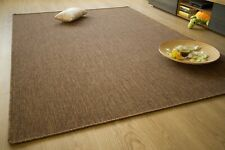 Flatwoven Rug Outdoor Mat Sisal Look Top Quality Carpet Stylish Modern Brown Rug