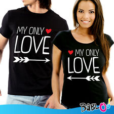"""Coppia Di T Shirt Magliette love You And Me """"My Only Love"""""""