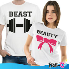 Coppia Di T Shirt Magliette You And Me The Beauty And The Beast