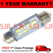 1X WHITE CANBUS NUMBER PLATE INTERIOR LIGHT 8 SMD LED BULB 30 36 39 42 44MM OF