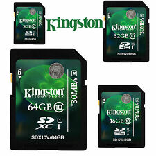 Kingston 8GB/16GB/32GB/64GB SD SDHC/XC C10 Scheda Di Memoria Flash f.Fotocamera