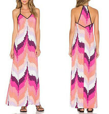 Vestito Lungo Estate Donna Viola Rosa Woman Maxi Dress 110188