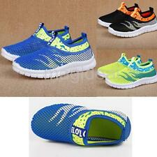 Kids Boys Girls Summer Flat Breathable Sport Sneaker Mesh Casual Soft Shoes 2016