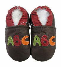 ✿ CHAUSSONS BEBE CUIR SOUPLE CAROZOO NEUF (abc) ✿
