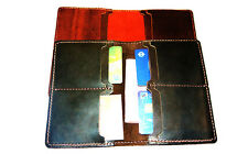 MULTI CARDS SLOT BI-FOLD SLIM LEATHER WALLET (TRAVEL WALLET)