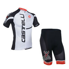 BNWT NEW Castelli White Cycling Jersey and Short set Racing Bike tour