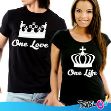 """Coppia di T Shirt Magliette You and Me """"One Love One Life"""""""
