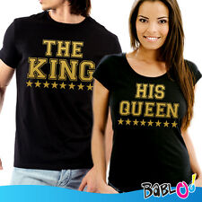 """Coppia di T Shirt Magliette You and Me """"The King His Queen"""""""