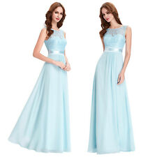 STOCK Long Chiffon Ball Evening Cocktail Dress Party Formal Bridesmaid Prom Gown