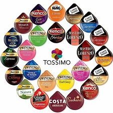 Tassimo Refill 16 T DISCS / Pods / milk & Coffee - 41 Flavours To Choose From
