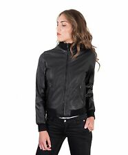Giacca in Pelle Donna Womens Leather Jacket Femme Blouson en Cuir G155 • colore