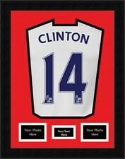 "Display framing Football shirt with 2 (6""x4"") Photos & Title- Red Mount"