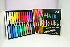 HAIR CHALK UK -24 Piece Sets of Hair Chalk, Hair Pastels, Hair Colour, Wash Out