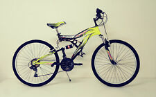 "BICI Bicicletta MTB MOUNTAIN BIKE 26""/24"" JUMP FULL SUSPENDED 18V"