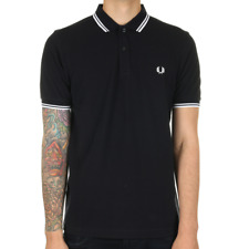 Fred Perry Twin Tipped Polo Shirt - Navy / White