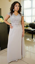 Elegant Wedding Formal Gown Party Evening Prom Maxi Dress Size 8 10 12 14 16 18