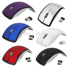 MOUSE WIRELESS 2.4GHz Ottico USB Arco Pieghevole PER PC LAPTOP WIN MAC NOTEBOOK