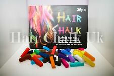 HAIR CHALK UK -36 Piece Sets of Hair Chalk, Hair Pastels, Hair Colour, Wash Out