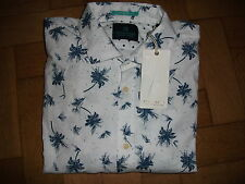 MENS SCOTCH & SODA AMSTERDAM COUTURE SENOR RETRO WHITE NAVY PALM TREES XLG BNWT