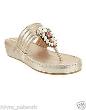 Siendo Desi Lola Platforms Gold Slip-On