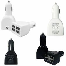 New 5.1Amp 4 Usb Port 12V-24V In Car Charger Cigaratte Socket Lighter Adapter
