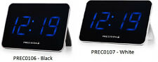 Precision MSF Radio Controlled Blue LED Wall Or Desk Tablet Size Clock Mains