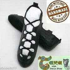 SALE IRISH DANCE PUMPS GILLIE LEATHER POMPS SOFT REEL SHOES TARA HANDMADE
