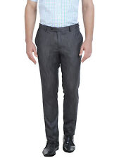 J.Hampstead Slim Fit Men's Grey Formal Trouser