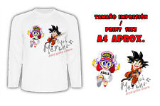 CAMISETA ARALE Y GOKU DRAGON BALL MANGA LARGA tshirt LONG es