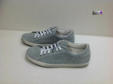 scarpe sneakers basse uomo grigie scamosciate made in italy