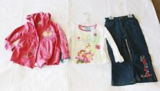 NWT Disney Fairies Tinkerbell 3pcs Set for Girls- Blue Jean, Shirt and Hoodie