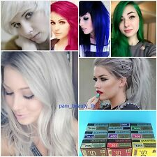 DCASH Master Permanent Hair Dye Color Cream,Grey,White,Violet,Blue,Green,Pink