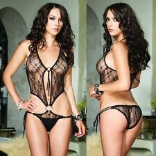 Sexy Lace O-Ring Side Tie Teddy, 8-14, Leg Avenue, Hot Lingerie, Bodysuit, Lacey