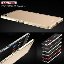 Luphie Luxury Aluminum Metal Bumper Frame Cover Case For Sony Xperia Z5 Premium
