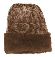 Modo Vivendi | Unisex Winter Warm Woolen Fur Fashionable Caps With Lines