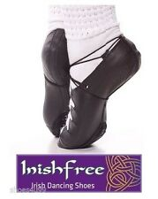 NEW AOIFE ARCHED POMP IRISH DANCE PUMP BLACK SUEDE CUSHION PORON SOLE  INISHFREE