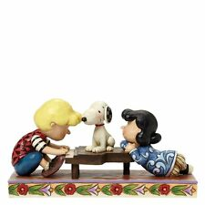 Peanuts by Jim Shore Schroeder with Lucy Snoopy Figurine