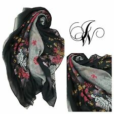 hijab/scarf ladies maxi beautiful ombre floral design