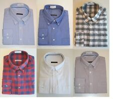 Mens 100% Cotton Oxford Weave Button Down Collar Long Sleeve Shirts