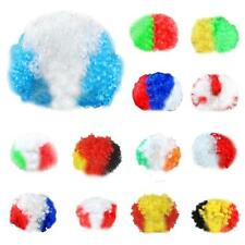 Party Disco Rainbow Afro Clown Hair Football Fan Adult Child Costume Curly Wig