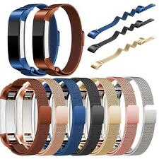 Magnetic Stainless Steel Milanese Loop Watch Band Strap For Fitbit Alta/Alta HR